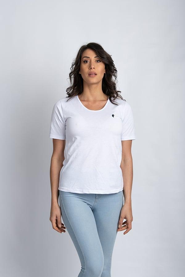 QADESH t shirt donna pivert bianca 03