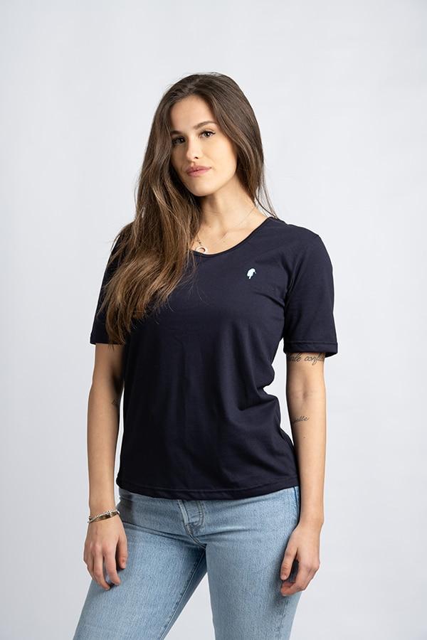 QADESH t shirt donna pivert blu 03